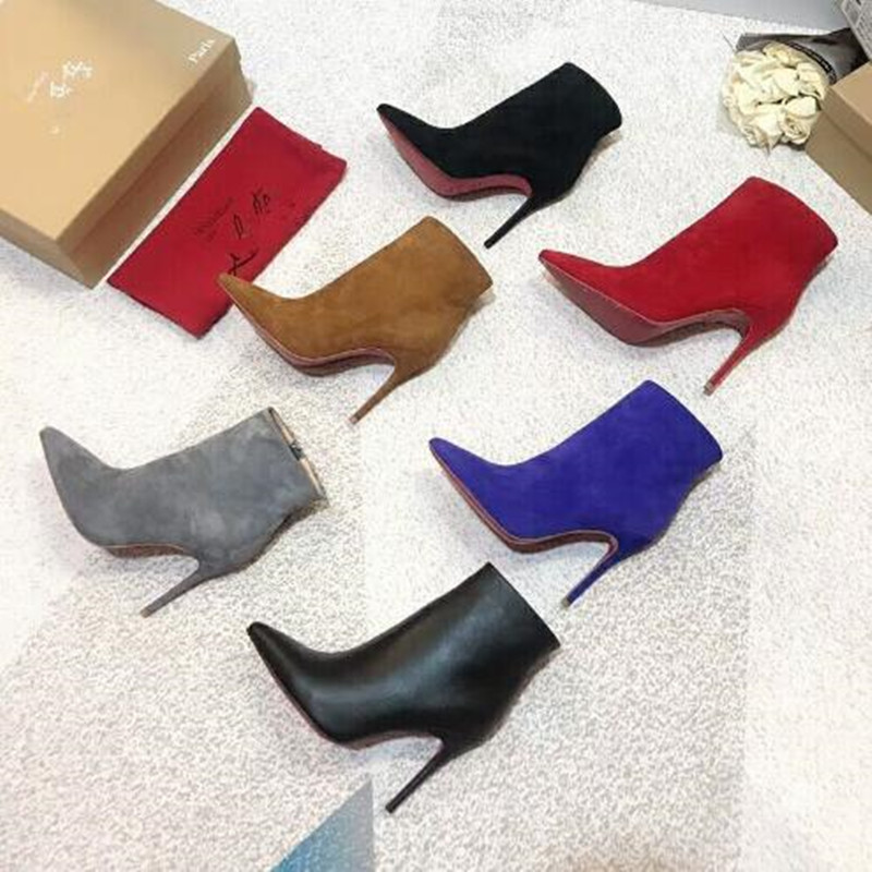 2018 luxury brand shoes women red bottom high heels Classic woman boots 6 colors 34-41 Box and dust bag