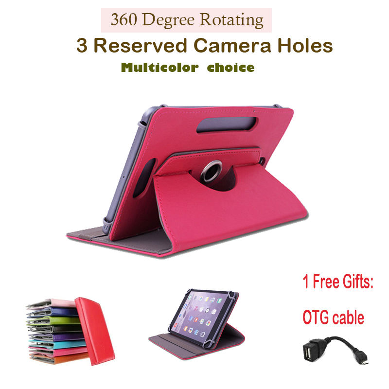 For   cube iwork8/iwork 8/T8 Dual 4G 8Inch 360Degree Rotating Universal Tablet PU Leather cover case  Free OTG 8 0