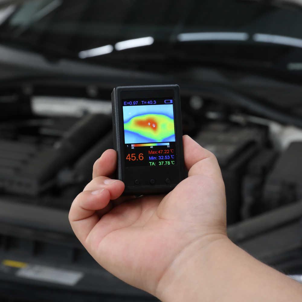 Портативный переносной цифровой Инфракрасный Тепловизор Термографическая камера инфракрасного Температура Сенсор