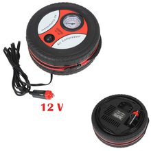 цена на Portable Automotive Tire Pump 12V Mini Air Pump Household Car Motorcycle Bike 260PSI Electric Air Compressor