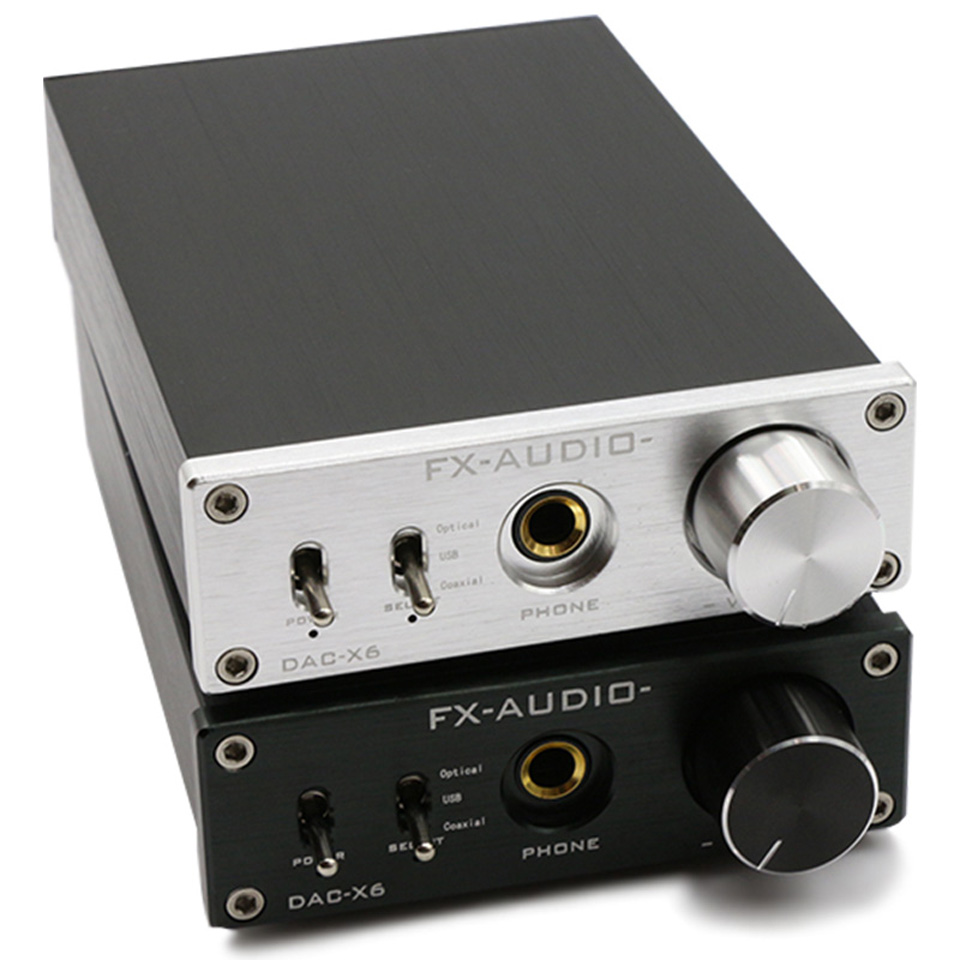 FX-Audio Feixiang DAC-X6 fever MINI HiFi USB Fiber Coaxial Digital Audio Decoder DAC 16BIT / 192 amplifier amp TPA612 hifi amp usb 24bit 192khz fiber coaxial headphone audio amplifier dac decoder silver dac x6 usa stock