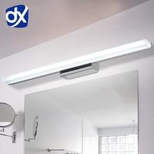 DX Mais LEVOU Espelho de Luz 0.4 M ~ 1.5 M AC90-260V Modern Cosméticos Acrílico lâmpada de Parede lâmpada de Iluminação Do Banheiro À Prova D' Água Livre grátis