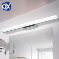 DX Longer LED Mirror Light 0.4M~1.5M AC90 260V Modern Cosmetic Acrylic Wall lamp Bathroom Lighting Waterproof Free Shipping