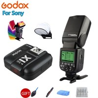 Godox TT685S Flash Speedlite 2.4G HSS TTL GN60 + X1T S Trigger Transmitter for Sony A58 A7RII A7II A99 A9 A7R A6300 + Gift Kit