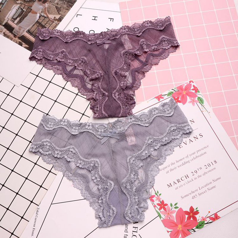 SP&CITY European Sexy Lace Transparent Underwear Women Cross Bandage Hollow Out Sex   Panties   Seamless Briefs Erotique Lingerie