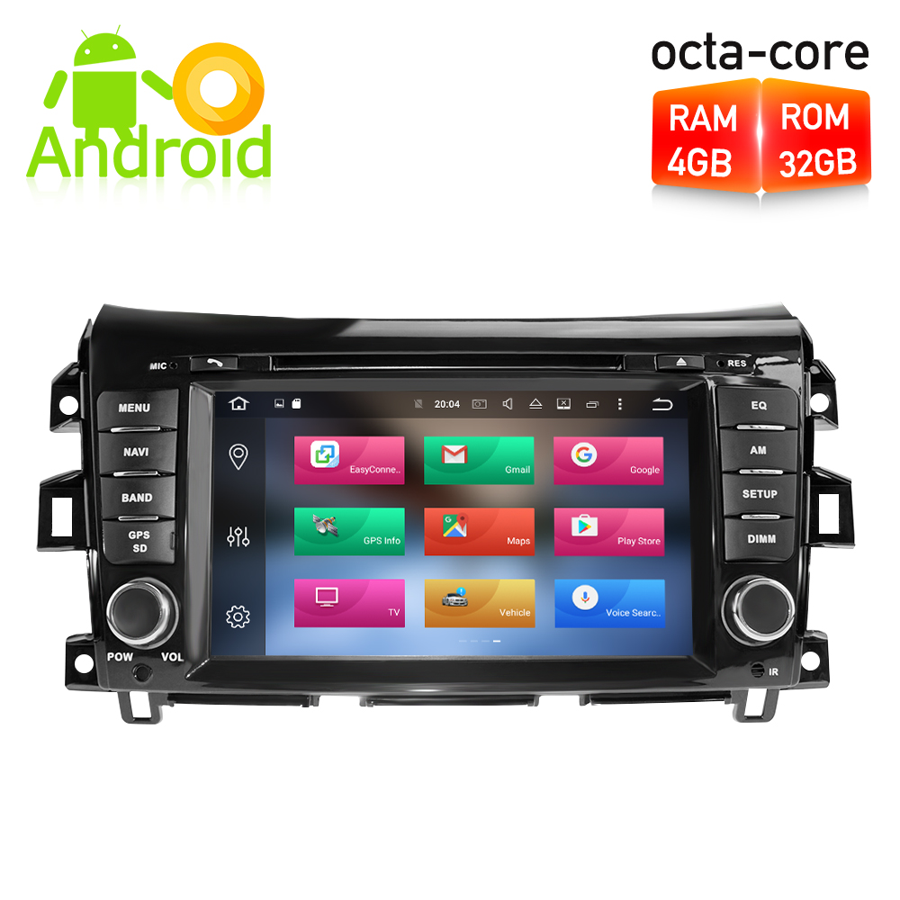 9 Octa Core Android8.1 Car GPS Navigation Radio Multimedia Stereo For Nissan Navara NP300 D23 2014 2015 2016 Auto Audio Player 2014 18 car wind deflector awnings shelters for navara np300 d23 black window deflector guard fit for nissan navara np300
