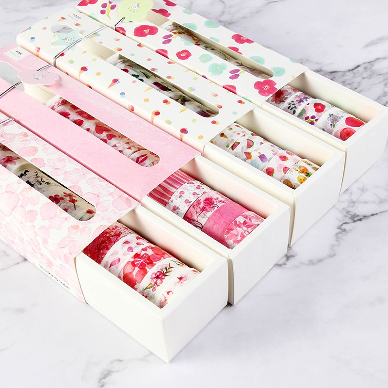12 10 9/Pack Starry Sky Ocean of Flower Washi Tape DIY Decoration Scrapbooking Planner Masking Tape Adhesive Kawaii Stationery new design retro style ship car travel old style vintage diy decorative washi tape diary deco masking tape scrapbooking stickers