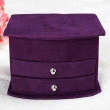 Venta caliente alta calidad tres capas de terciopelo portátil multifuncional collar de anillos etc cajas de regalos de joyas caja de envío gratis