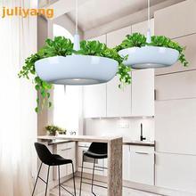 Juliyang светодиодный подвесной светильник в виде садов Вавилона, горшки, креативная люстра в горшках для скандинавского Тома, художественная Подвесная лампа