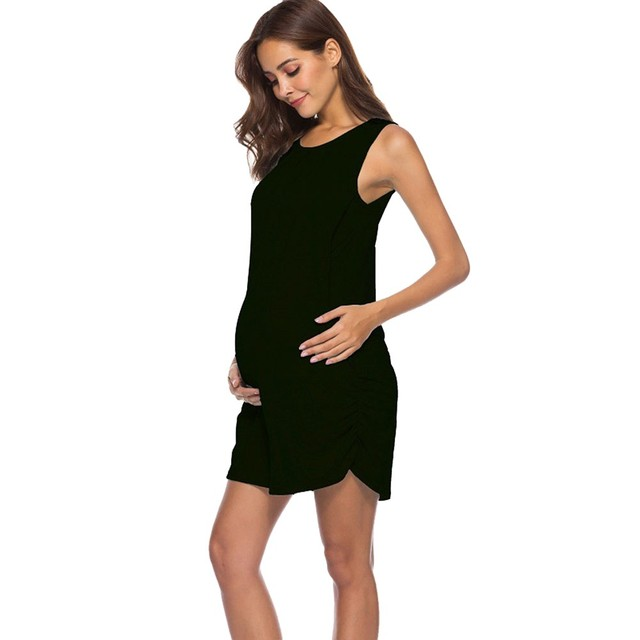 965c095addfa8 Women Dress Mom Pregnant Nursing Baby Maternity Vest Sleeveless Dress  Clothes Breastfeeding Maternal Pregnancy Dresses #40