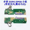 Zp920 Mirco USB placa do carregador conector da ligação microfone com vibrador reparação de motores para ZOPO magia ZP920 Smartphone frete grátis