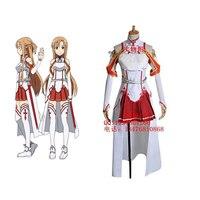 2016 Sword Art Online Asuna Cosplay Costume Halloween Costumes for Women Full Set Customized