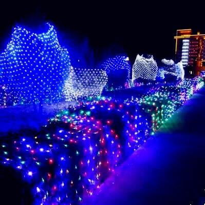 Luces LED barco de pesca flotador neto En Cristal Rojo boya//árbol De Navidad Jardín