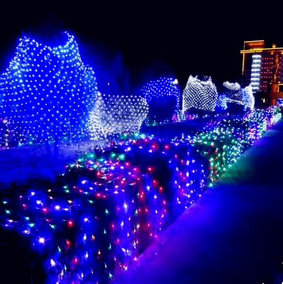 New Year 6x3m Garland LED Christmas Lights Outdoor Decoration Navidad Cristmas LED Net String Fairy Lights Luzes De Natal 3x6m led net lights 800 smds christmas natal new year garlands waterproof led string indoor outdoor landscape lighting wholesale