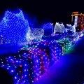 Novo Ano de 6x3 m Cristmas Guirlanda Decoração Navidad LEVARAM Luzes De Natal Ao Ar Livre Luzes de Fadas String Luzes LED Net De Natal