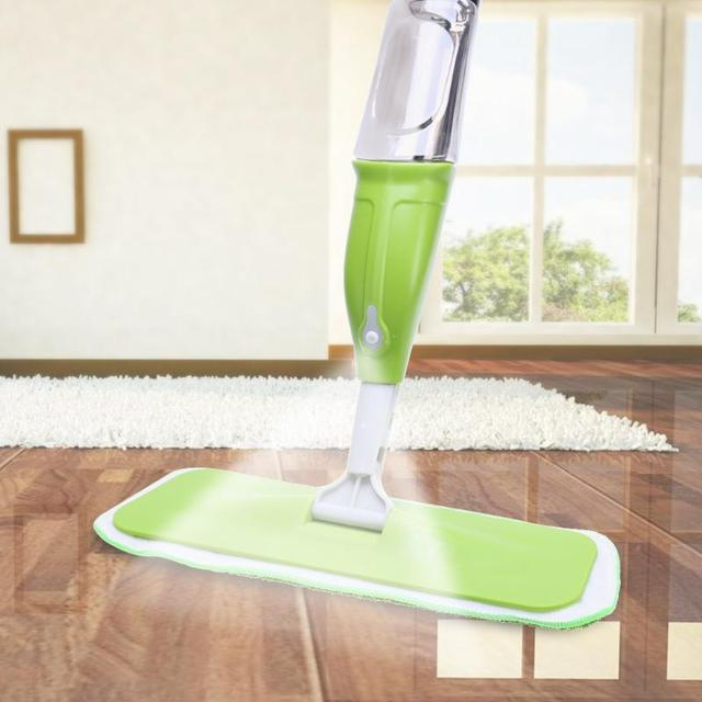 350ML Spray Mop Floor Cleaning Tool Microfiber Cloth Hand Wash Plate ...