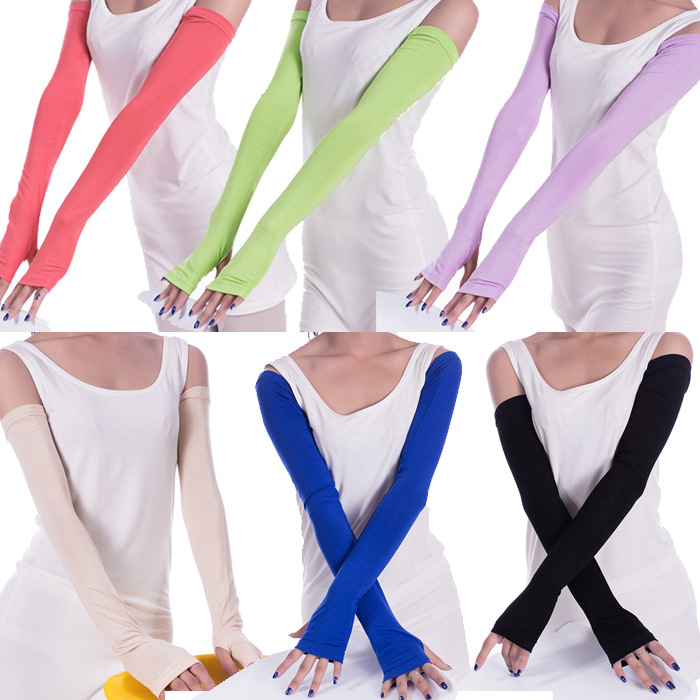 Summer Thin Driving Uv Sleeves Bike Half Finger Long Sun Gloves Cuff Sun Visor Hand Outdoor Sports Arm Sleeve Wholesale