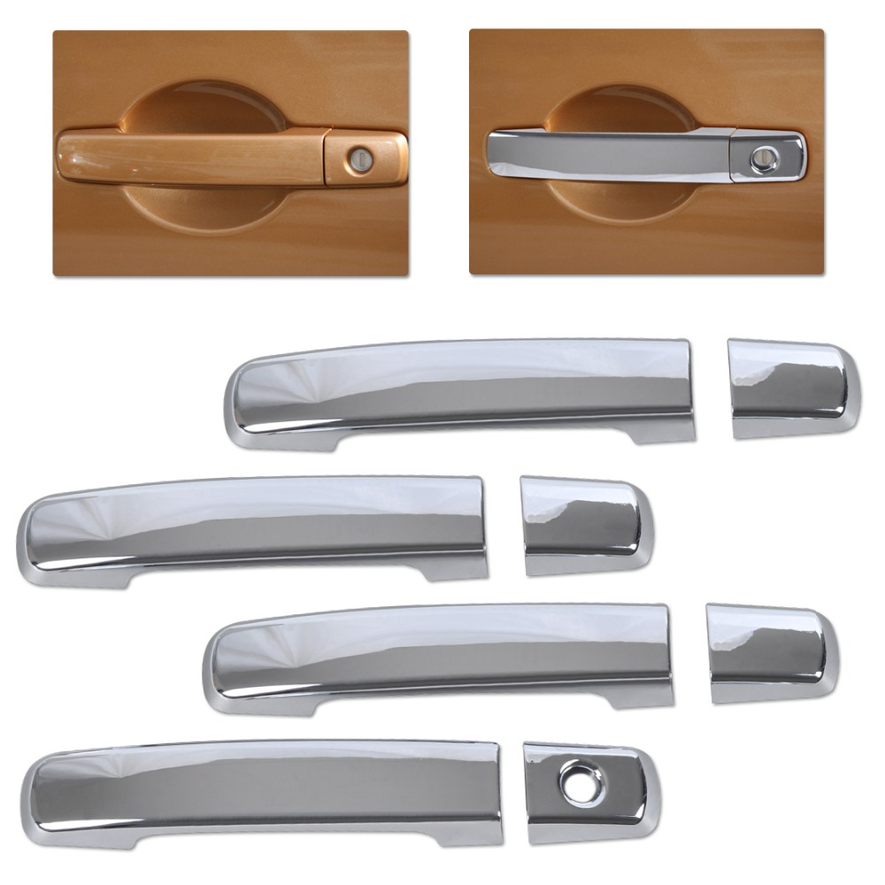 Citall Chrome Door Handle Cover Trim Moldings For Nissan