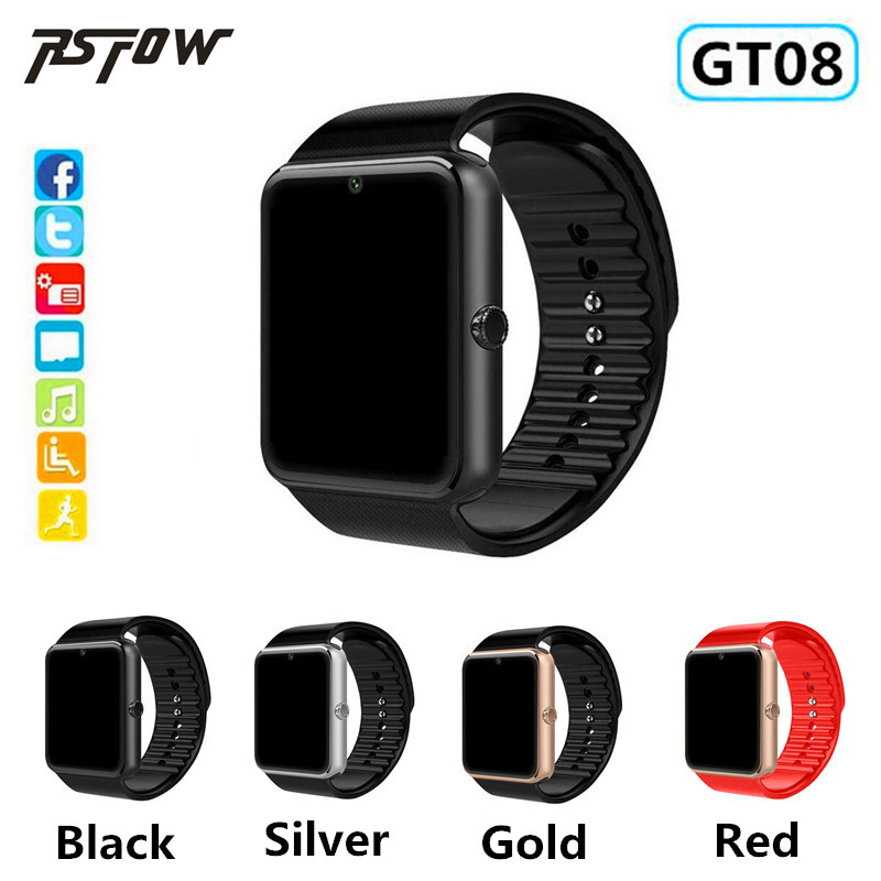 Bluetooth Wearable Smart Watch GT08 Support 2G SIM 8GB TF Card Camera Connectivity Android Apple Smart