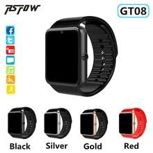 GT08 Wearable Relógio Inteligente do bluetooth Suporte 2G SIM 8 GB Câmera Cartão TF Conectividade Eletrônica Da Apple Android Telefone Inteligente relógio