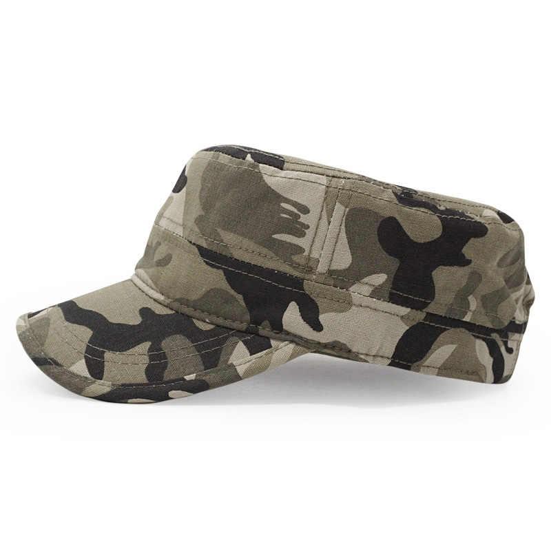 5dfa78060e8246 ... 100% Cotton Men Snapback Cap Military Hats Camouflage Solid Color Army  Flat Top Cap Outdoor ...