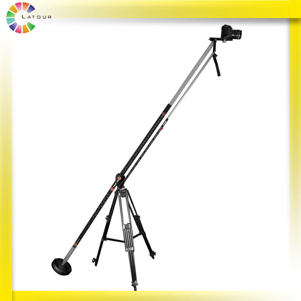 275 cm Professional extendable photographic portable Aluminum camera crane Jib for Pro DSLR Portable Pro DSLR Video Camera professional dv camera crane jib 3m 6m 19 ft square for video camera filming with 2 axis motorized head