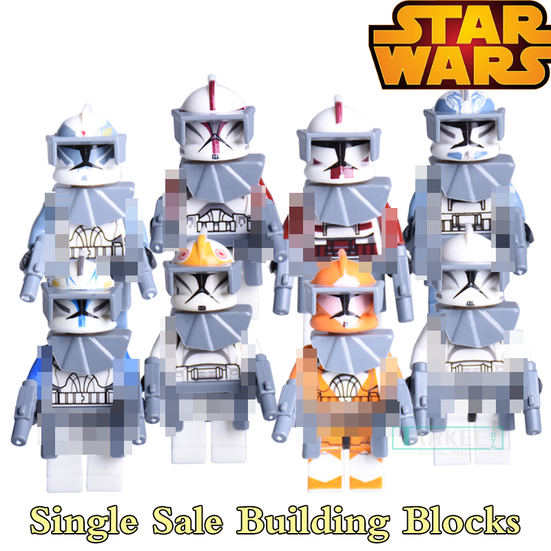 1PC Star Wars 7 Building Blocks Super Heroes The Force Awakens Clone Strom Trooper Diy Bricks Commander Fox Rex Action Kids Toys вода ducray иктиан увлажняющая мицеллярная вода 400 мл