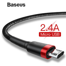 Baseus 1m 2m Micro USB Cable for Xiaomi Redmi Note 5 Pro 4 Reversible Micro USB Charger Data Cable for Samsung S7 Mobile Phone