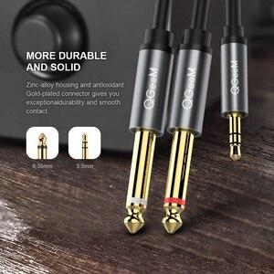 Image 2 - Qgeem Jack 3.5Mm Naar 6.35Mm * 2 Adapter Audio Kabel Voor Mixer Versterker Luidspreker Vergulde 6.5Mm 3.5 Jack Splitter Audio Kabel