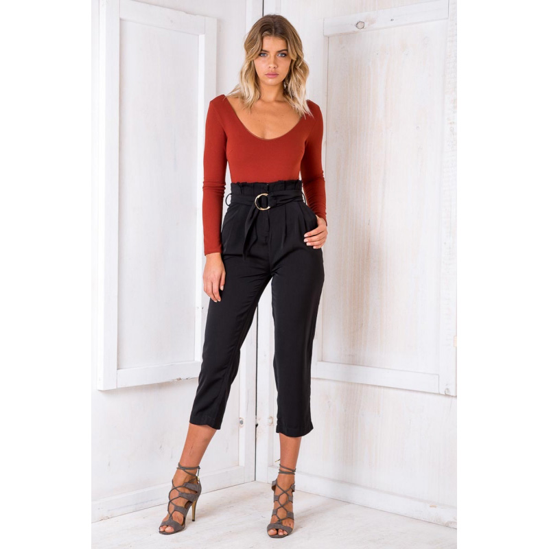 Streetwear Ruffle Pleated Zipper Sash Harem   Pants   Casual   Pants   Women 2018 Autumn Trousers Pocket High Waist   Pants     Capris   Female