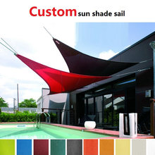 Sun shade sail waterproof shade canopy net toldo canopy outdoor pergola gazebo garden cover awning rectangle square voile soleil(China)