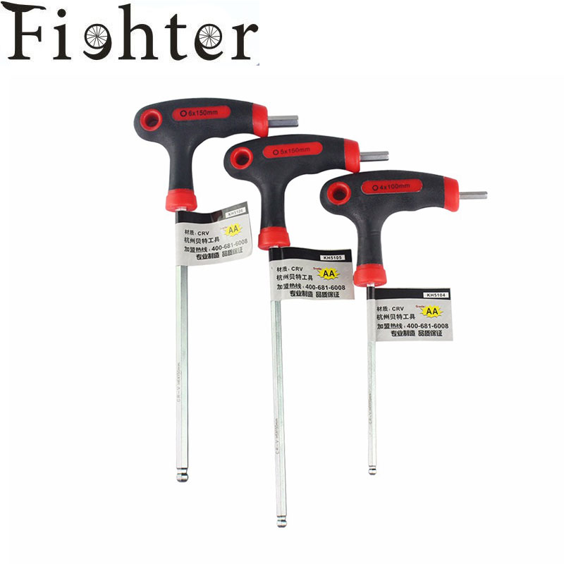 3pcs/set T/L Handle bike Allen key wrench Hex key wrench with ball end (4-5-6mm)L-Set W/Ball bicycle repair tools sets