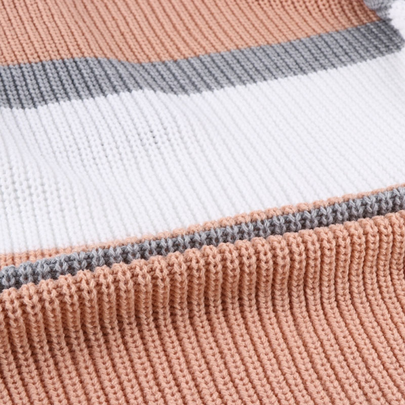 HDY Haoduoyi Womens Striped Long Sleeve Cardigans Open Front Chunky Knitted Sweater Color Block Sweater Coats Jumpers Outwear
