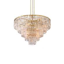 Modern crystal chandelier living room hotel lobby lighting designer American LED