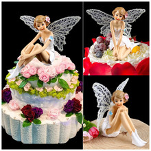adult birthday angel cake topper return gifts for kids party supplies children girls toys flying fairy cupcake toppers