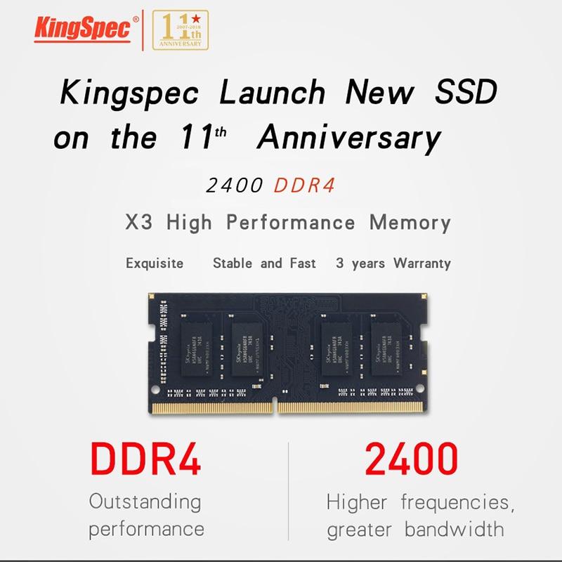 2018 KingSpec D'origine 4 gb 8 gb 16 gb Mémoire Ram 2400 mhz PC4-19200 Pour Bureau D'ordinateur Portable De Haute Vitesse RAM livraison Gratuite - 5