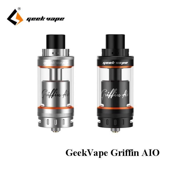 100% original GeekVape Griffin AIO 25mm RTA top bottom airflow design changeable build deck update from griffin 25 plus