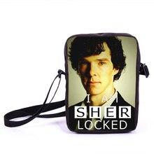TV Show Sherlock Mini Umhängetasche Junge Frauen Männer täglichen Tasche Charakter John Jungen Mädchen Schultaschen für Teen beste Geschenk Buch Taschen