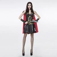Взрослых Для женщин Хэллоуин Sexy ПВЗП Рим Solider короткие красная накидка платье PU воин пират Косплэй Необычные Экипировка плюс Размеры