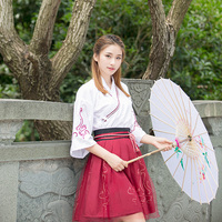 New Style Traditional Folk Dance Costumes Hanfu Costume Tang Dynasty Girls Clothes Ancient Chinese Clothing Top + Skirt