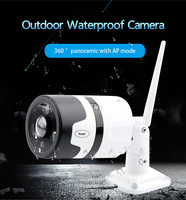 3mp câmera de segurança em casa alarme de detecção de movimento câmera wi fi bala ao ar livre câmera ip câmera ao ar livre infravermelho panorâmica