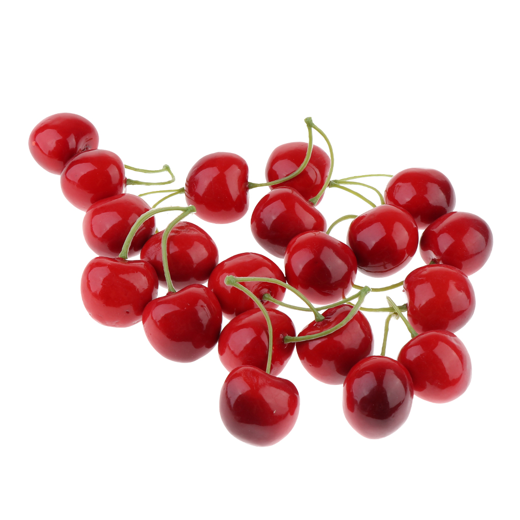 Ornament Cabinet Cherries Garden Artificial for Kitchen And Simulation-Cherry Fake-Fruit
