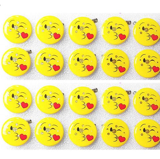 Logical Hot Sale 50pcs Cartoon Smile Face Heart Led Badge Flashing Brooch,children Party Christmas Valentines Day Decoration Q-98 Jewelry Sets & More Jewelry & Accessories