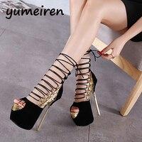 Women Pumps High Heels Sandals Platform Summer Sandals For Women Gold Silver Wedding Evening Party Shoes