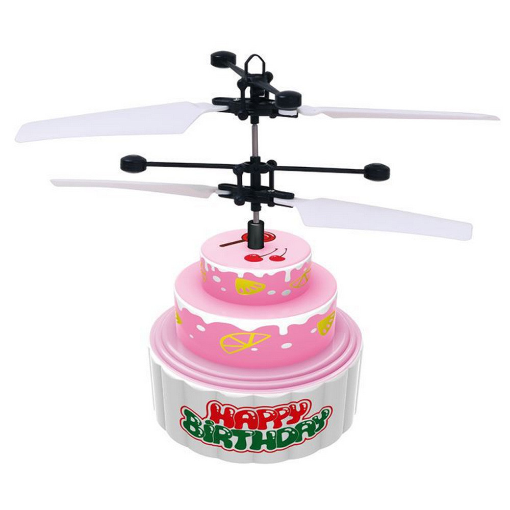 Flying Mini RC Infraed Induction Helicopter Aircraft Flashing Light Toys For Kid Educati ...