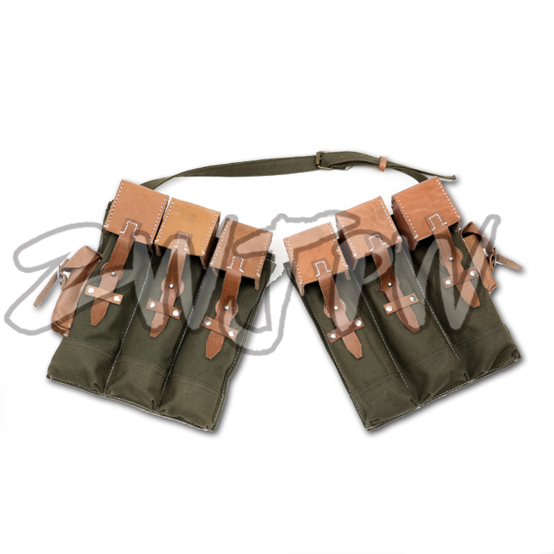 WW2 WWII Army Walther MP44 Canvas A mmunition Pouch Cartridge Bag Military DE / 104101