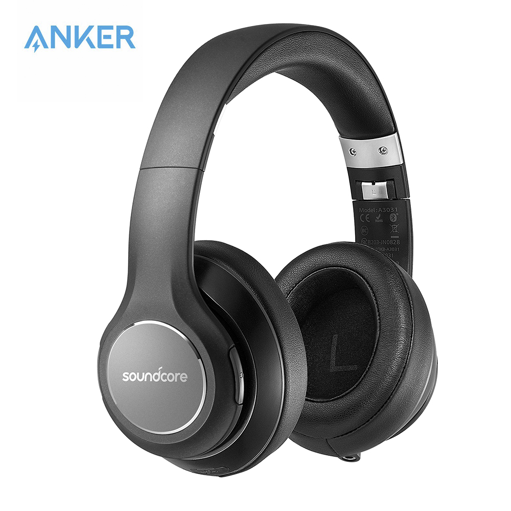 Anker soundcore por vortex sem fio sobre-orelha fones de ouvido com 20 h playtime bluetooth 4.1 hi-fi estéreo som memória-espuma earmuffs