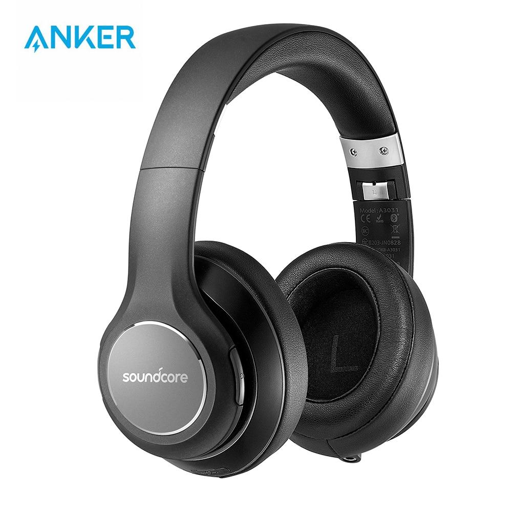 Anker Soundcore Vortex Wireless Over-Ear Headphones with 20H Bluetooth 4 1 Hi-Fi Stereo Sound Memory-Foam Earmuffs