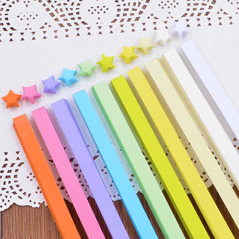 5/7/10/27 Warna Campuran Warna Set Kertas Kerajinan Lipat Lucky Star Origami Kertas Buatan Tangan Rumah DIY Kartu hadiah Kerajinan Dekorasi