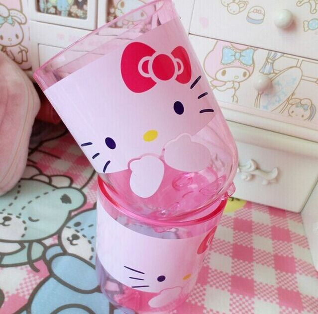 US $6 99 |Kawaii 1Piece Hello Kitty 200ML Approx  Bathroom Teeth Brushing  CUP Mugs